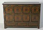 19th Century, Tibetan Wooden Cabinet