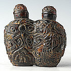A Chinese Tortoise Shell Double-formed Snuff Bottle