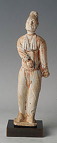 Tang Dynasty, Chinese Painted Pottery Foreign Court Man
