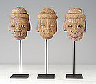 Burmese Wooden Puppet Head