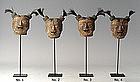 Burmese Wooden Puppet Heads
