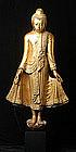 19th Century, Mandalay, Large Burmese Wooden Buddha