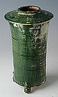 Han Dynasty, Chinese Pottery Granary with Green Glaze