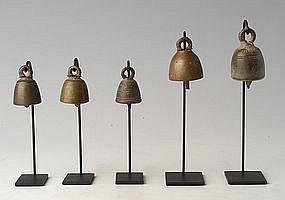 19th Century, Miniature Burmese Bronze Temple Bell