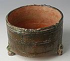 Han Dynasty, Chinese Pottery Green Glazed Jar