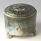Han Dynasty, Chinese Pottery Green Glazed Hu Jar