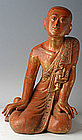 A Burmese Wooden Buddha�s Chief Disciple - Sariputta