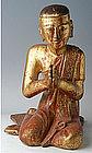 A Burmese Wooden Buddha�s Chief Disciple - Moggallana