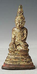 16th-18th C., Shan, Miniature Burmese Bronze Buddha