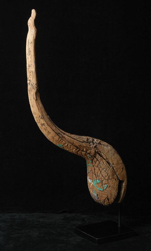 19th Century, Laos Wooden Finial