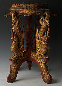 19th Century, Tai Yai Burmese Wooden Offering Tray