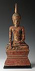 18th Century, Laos Wooden Sitting Buddha