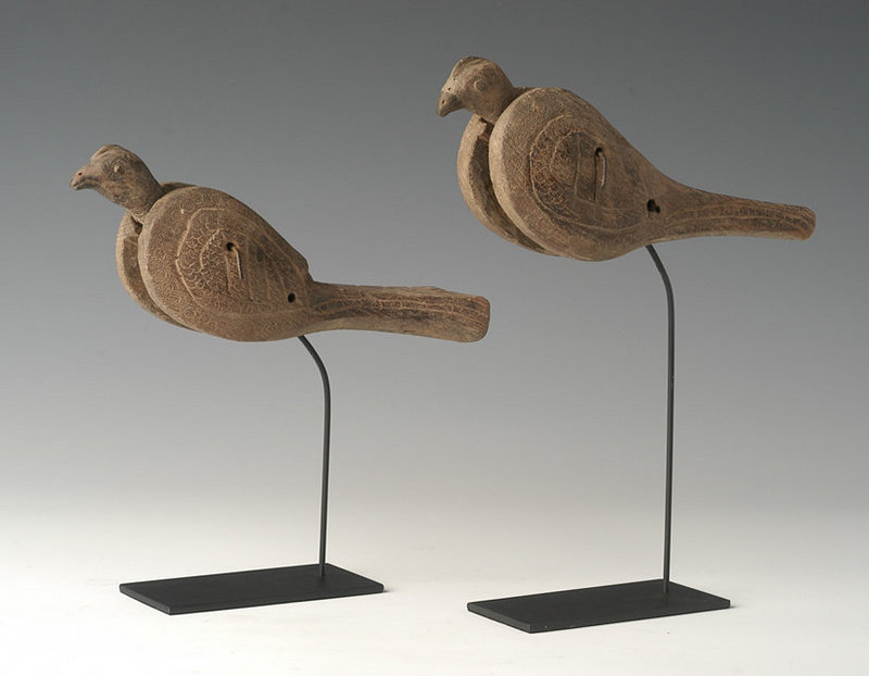 19th Century, A Pair of Burmese Wooden Textile Tools