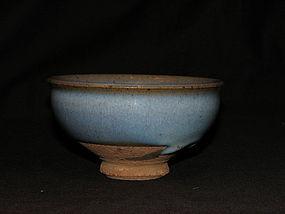 A Jun bowl with crimson splashed interior. Yuan dyn.