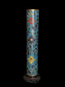 A Chinese cloisonne incense holder.