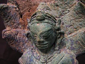 A Javanese bronze figure of buddha with makalinda.