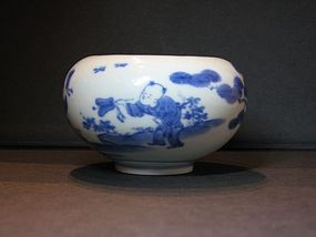 A small Hirado blue and white porcelain jarlet.