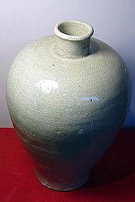 A Korean celadon meiping vase. Koryo or early Chosen