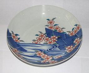 A Japanese polychrome Nabeshima dish.