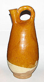 A Chinese Liao amber glazed flask.