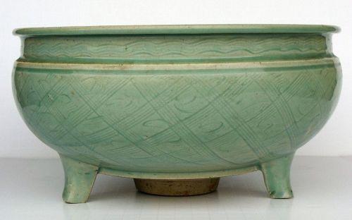 Ming Longquan Zhejiang Celadon Censer