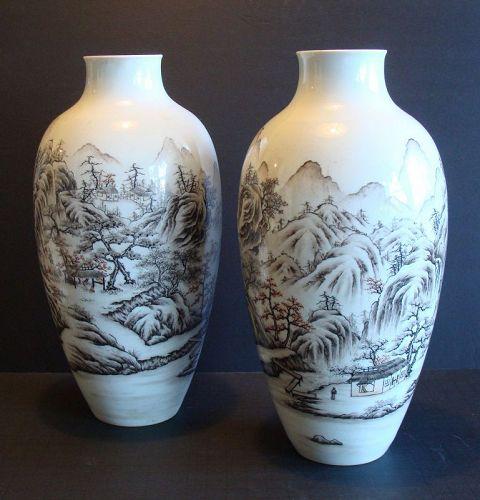 Sepia Vases (Pair)