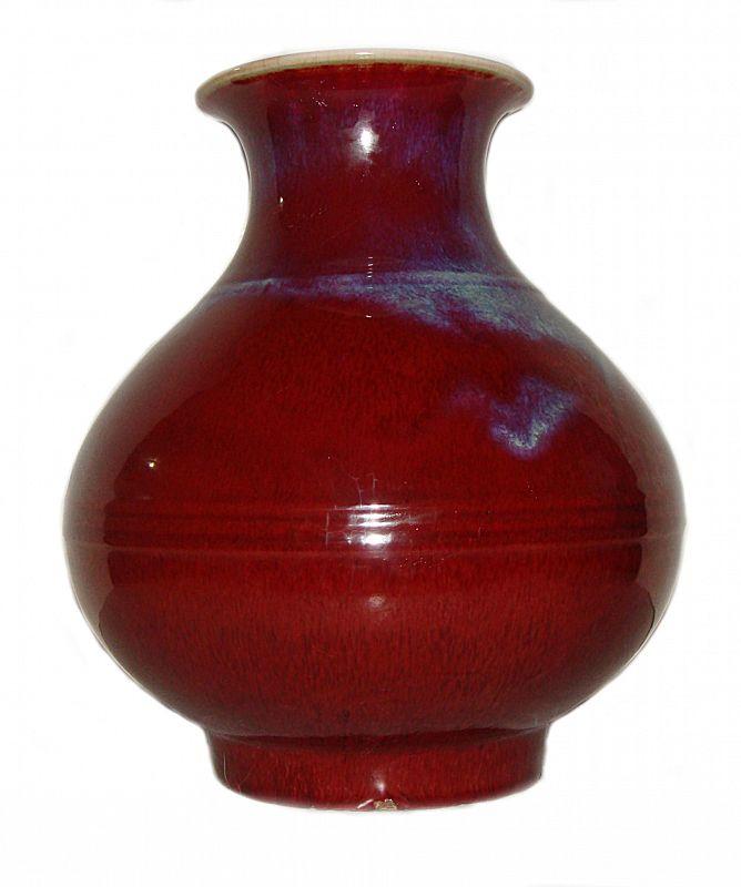 Red Flambe Glaze Vase