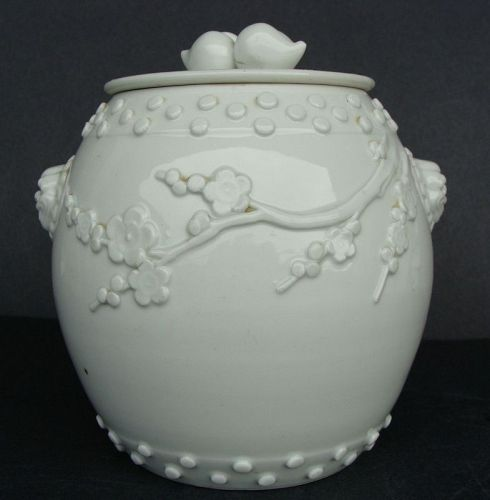 Blanc de Chine Jar and Cover