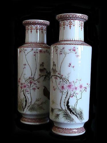 Porcelain Cylinder Vases