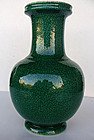 Green Glaze Crackle Vase