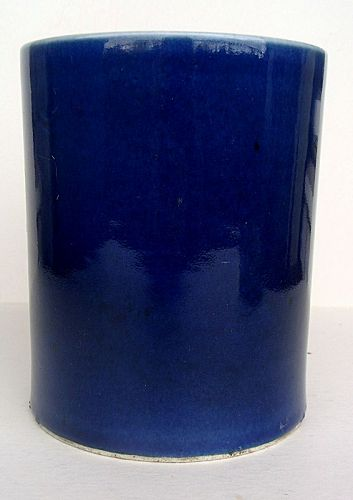 Blue Glaze Brushpot