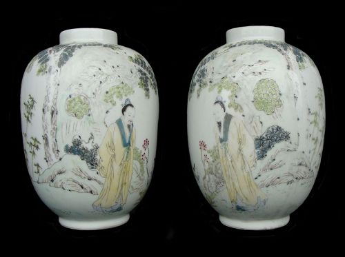 Qiangiang Latern Vases (Pair)
