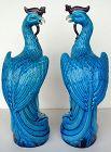 Turquoise Glazed Phoenix (Pair)