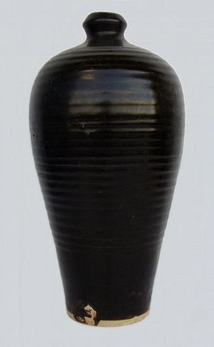 Chinese Henan Black Glazed Vase