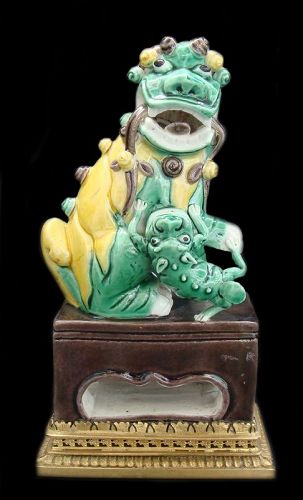 Chinese Sancai Foo Dog Kangxi