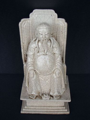 Chinese Glazed Seated Deity