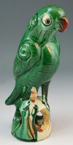 Chinese Sancai Glazed Parrot