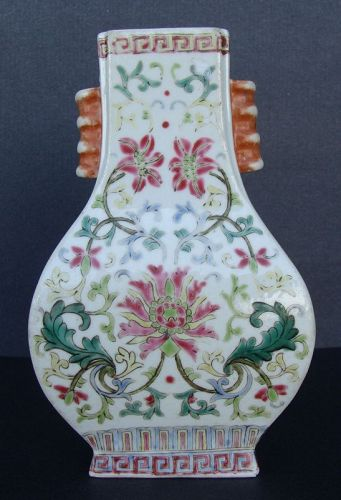Chinese Famille Rose Hu Vase