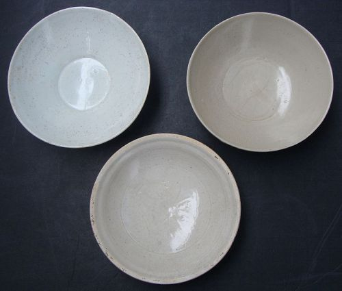 Chinese White Ware Bowls (Three)