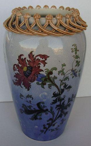 Stoneware Chrysanthemum Vase