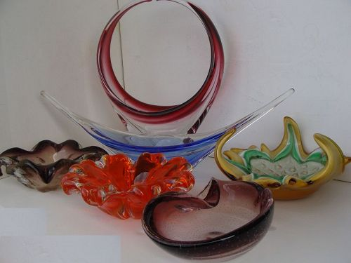 Coloured Glass Bowls