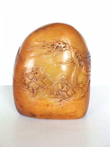 Chinese Carved Shoushan Seal