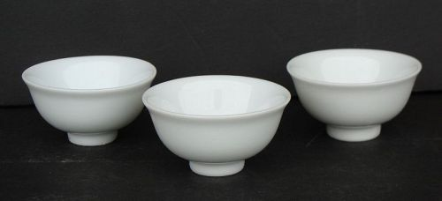 Chinese Dehua Tea Bowls (Set of 3)