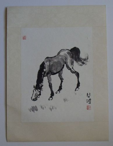 Chinese Series Xu Beihong Horse Ink Drawings