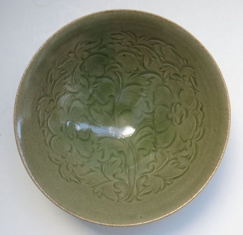 Chinese Yaozhou Floral Bowl