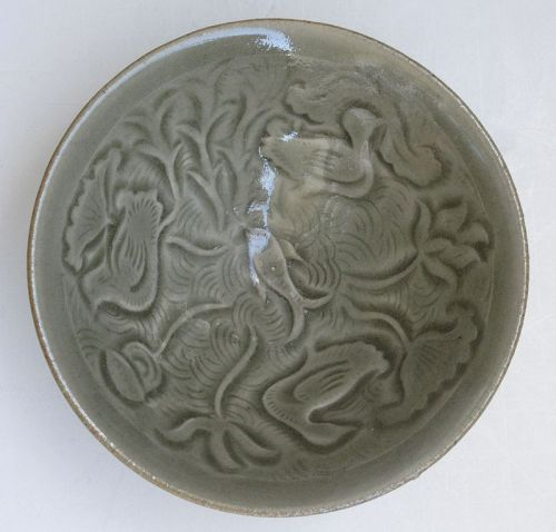 Chinese Yaozhou Fish and Duck Bowl