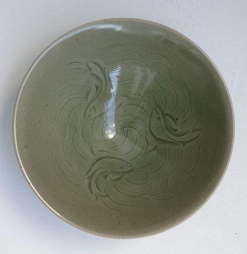 Chinese Yaozhou Fish Bowl