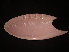 VINTAGE SHAWNEE POTTERY BOOMERANG ASHTRAY #407