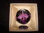 MID-CENTURY CARVED ORCHID LUCITE PIN