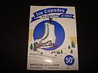 VINTAGE 1953 ICE CAPADES PLASTIC SKATERS PIN